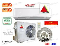 12,000 BTU Ductless Air Conditioner, Heat Pump Mini Split 22