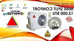 12,000 BTU  Ductlless AC Air Conditioner Heat Pump Mini spli