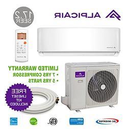AlpicAir 12,000 BTU Ductless Mini-Split Air Conditioner Heat