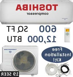 12000 BTU 19 SEER Ductless Mini Split Air Conditioner Heat P