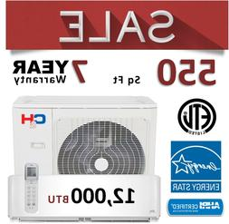 12000 BTU Ductless 22 SEER Mini Split Heat Pump Ductless AC