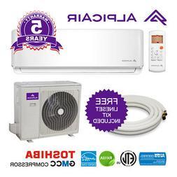 AlpicAir 18,000 BTU Ductless Mini-Split Air Conditioner Heat
