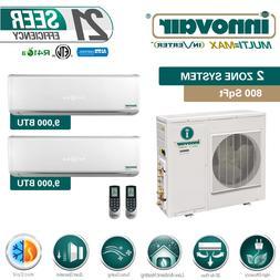 18000 BTU Dual Zone Ductless Mini Split Air Conditioner Heat