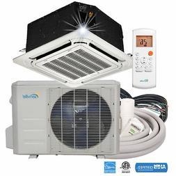 18000 BTU Ductless Mini Split Air Conditioner - Ceiling Cass
