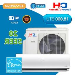 18000 Hyper Heat Mini Split Air Conditioner 20 SEER Ductless