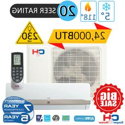24000BTU 230V Mini Split Ductless Air Conditioner Heat Pump