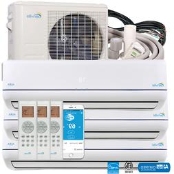 28000BTU Tri Zone Ductless Mini Split Air Conditioner