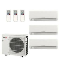 Mitsubishi 28.6K BTU 19 SEER Wall Mounted Tri Zone Mini-Spli