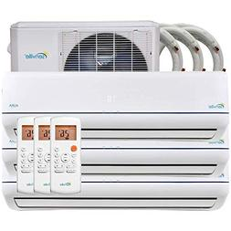36000 BTU Tri Zone Ductless Mini Split Air Conditioner and H
