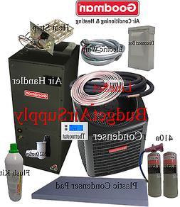 3.5 ton 14 SEER Goodman Heat Pump GSZ14042+ARUF43C+tx+FLUSH+