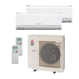 Mitsubishi 36,000 Btu 19 Seer Dual Zone Ductless Mini Split