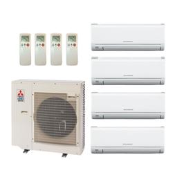 36000 Btu 19 Seer Mitsubishi Multi Zone Mini Split Heat Pump