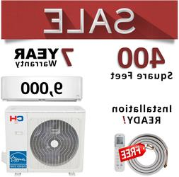 9000 BTU Ductless Mini Split Heat Pump Ductless AC Heater 23