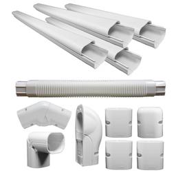 Decorative PVC Line Cover Kit for Heat Pumps and Mini Split