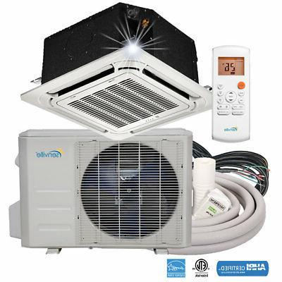 18000 BTU Ductless Mini Split Air Conditioner - Ceiling 1.5