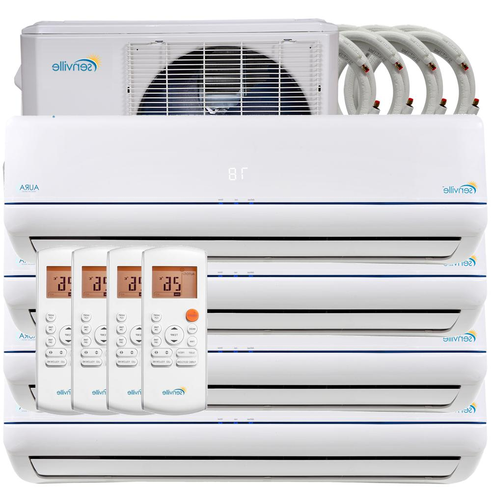 48000 BTU Quad Zone Ductless Mini Split Air Conditioner and
