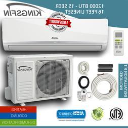 KINGSFIN Mini Split Ductless AC Air Conditioner / Heat Pump