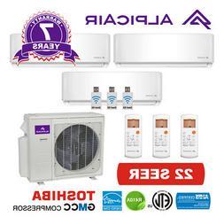 AlpicAir +Multi Tri-Zone Ductless Mini-Split Heat Pump 27,00