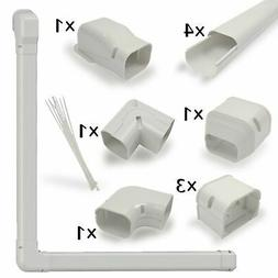 "Jeacent 3"" W 11.3Ft PVC AC Line Set Cover Kit Tubing Cover f"