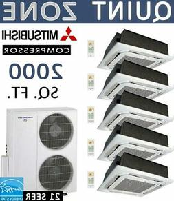 Thermocore T321Q-12X5-Cassette Ductless Mini Split Air Condi